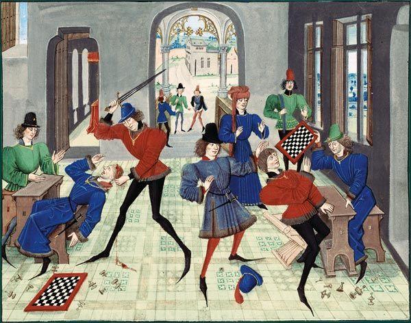 Photo d'une bataille au Moyen-Âge