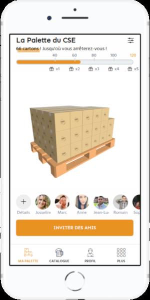 Capture d'écran de l'application La Palette