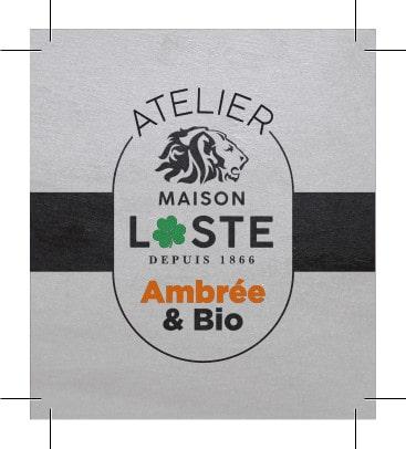 Étiquette de la bière Loste ambrée